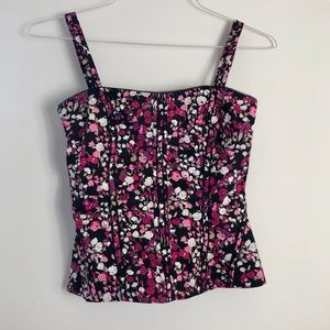 WHBM Floral Bustier Top